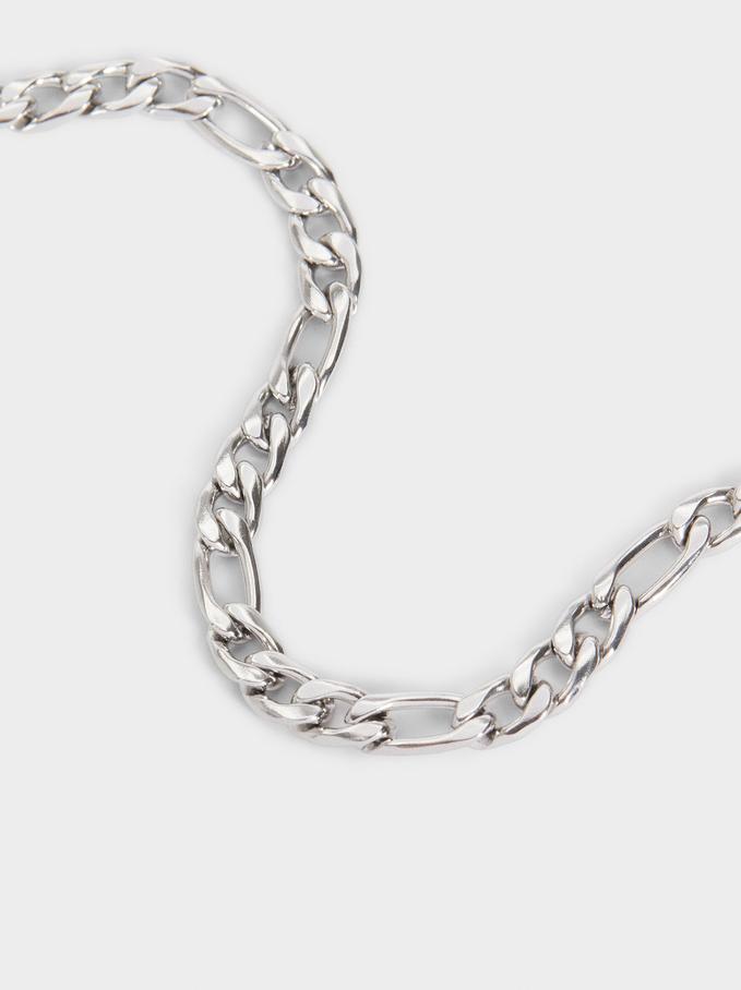 Bracelet Maillons En Acier, Argent, hi-res
