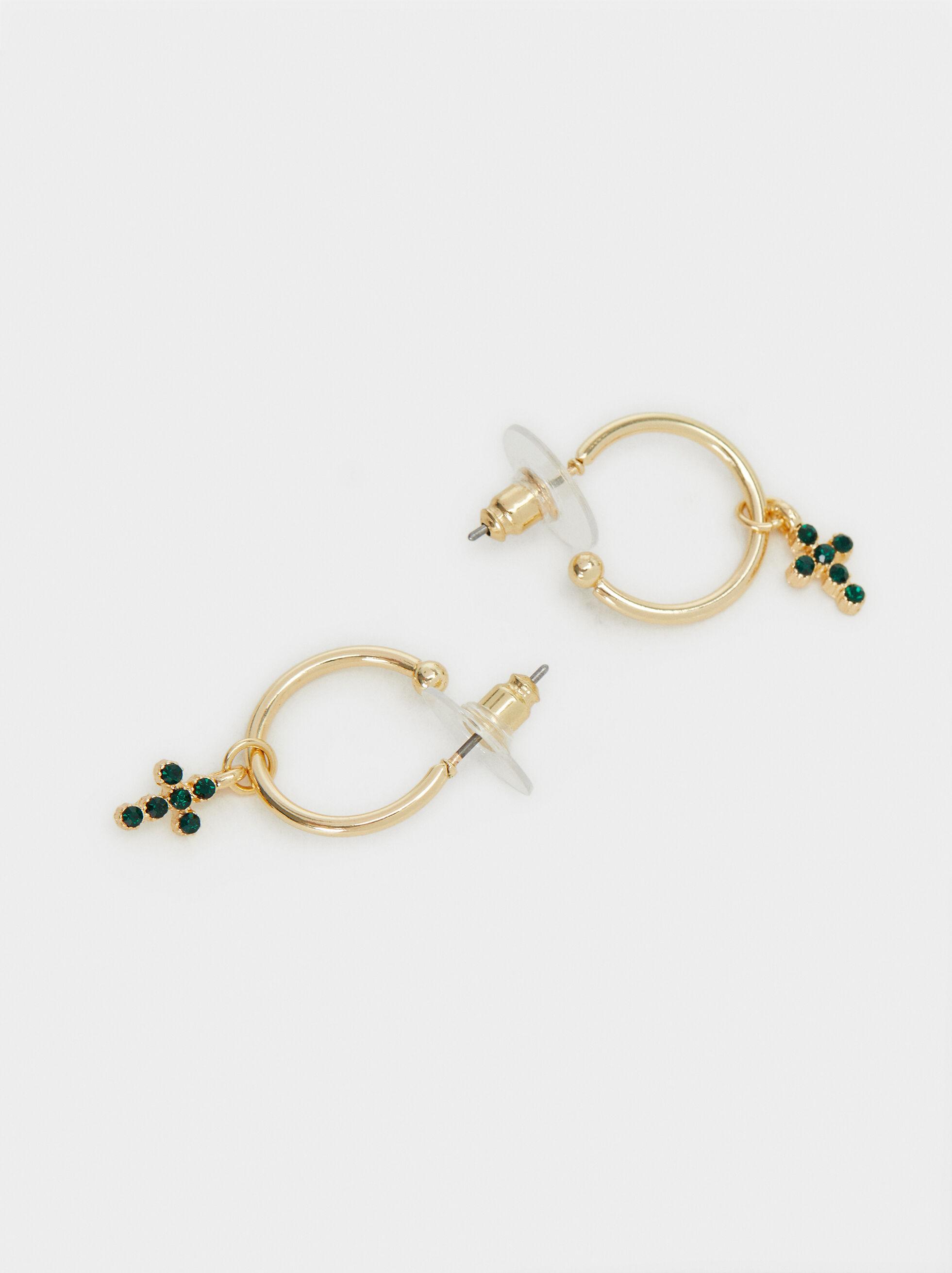 Hoop Fever Small Hoop Earrings , Golden, hi-res