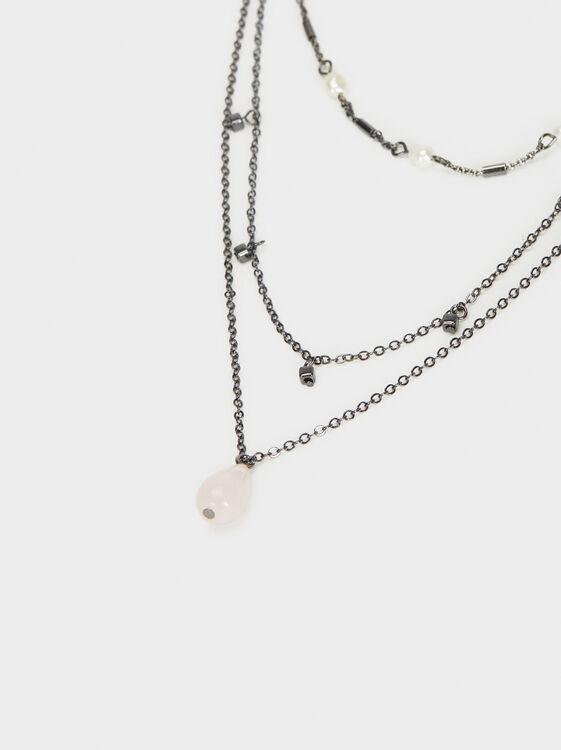 Cosmic Pink Necklace Set, Multicolor, hi-res