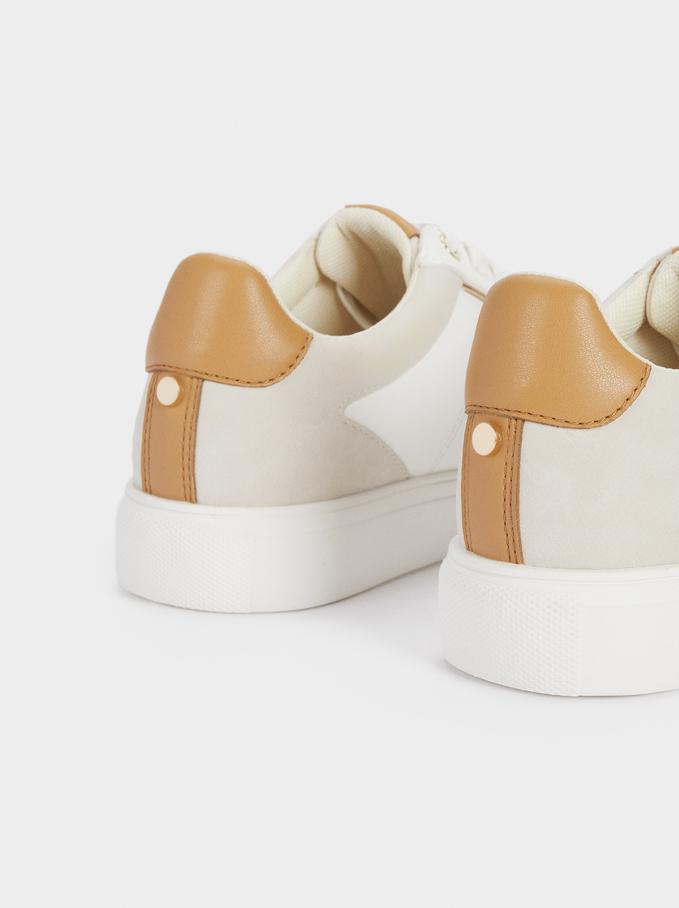 Sapatilhas Desportivas Combinadas Plataforma, Branco, hi-res
