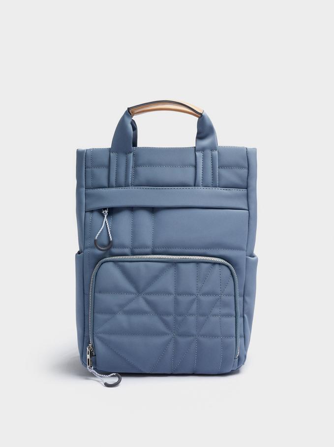 Rucksack Mit Nyloneffekt Für Ein 13-Zoll-Laptop, Blau, hi-res