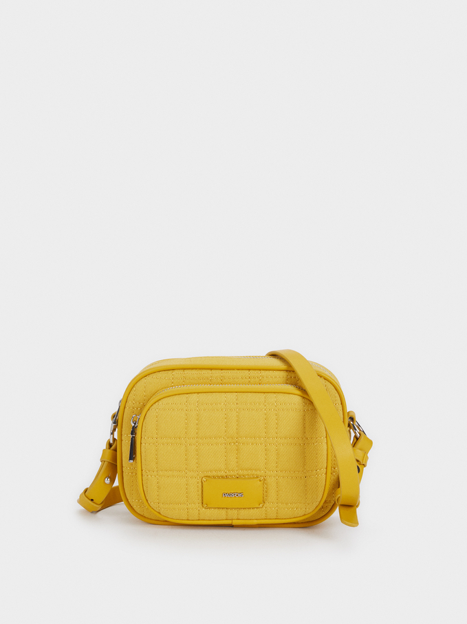 Crossbody Bag With Adjustable Strap, Yellow, hi-res