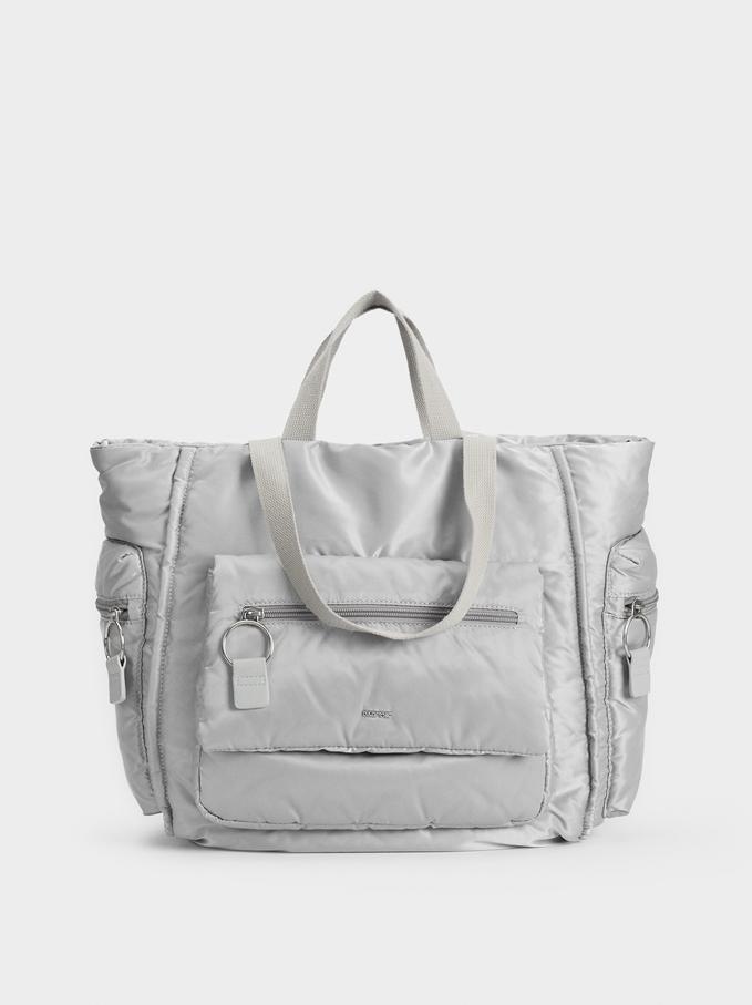 Limited Edition Nylon Sports Bag, Grey, hi-res