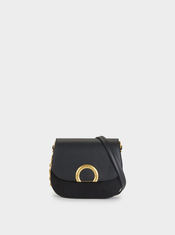 Crossbody Bag With Metal Detail, , hi-res
