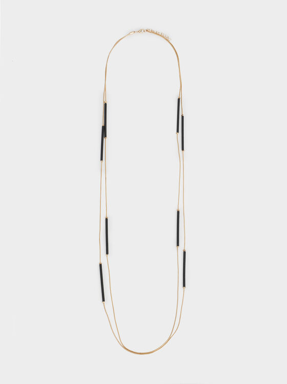Blog Long Two-Tone Necklace, Multicolor, hi-res