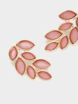 Petrified Short Earrings, Pink, hi-res