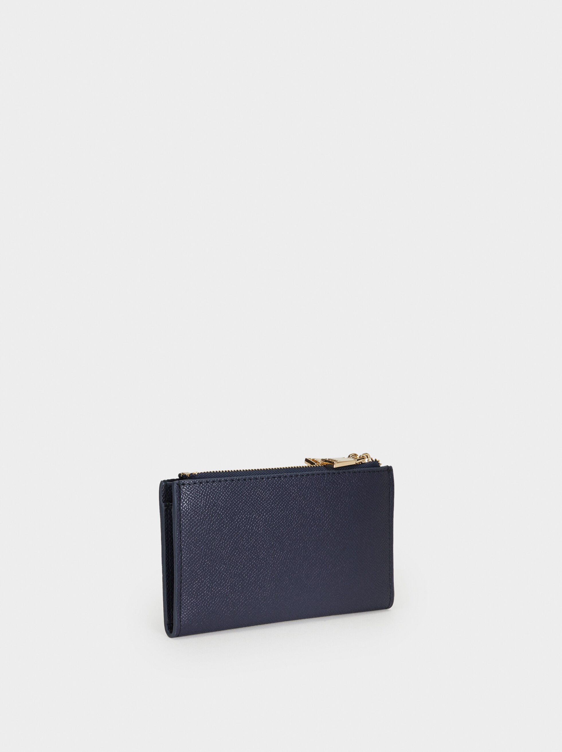Medium Smooth Purse, Navy, hi-res