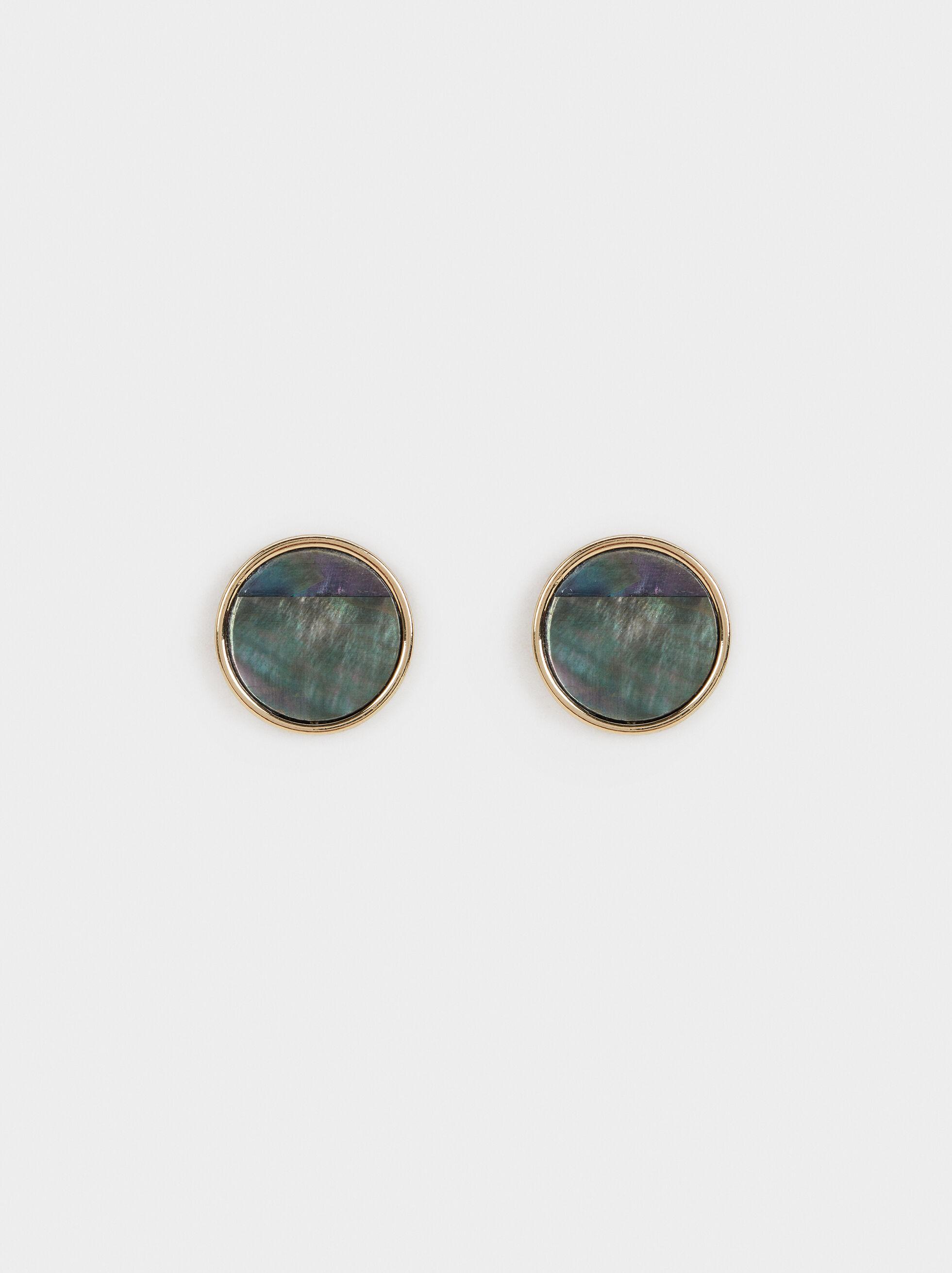 Blog Short Earrings, Golden, hi-res