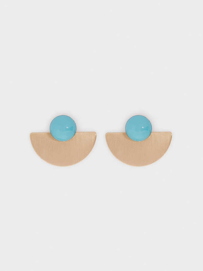 Recife Stone Stud Earrings, Beige, hi-res