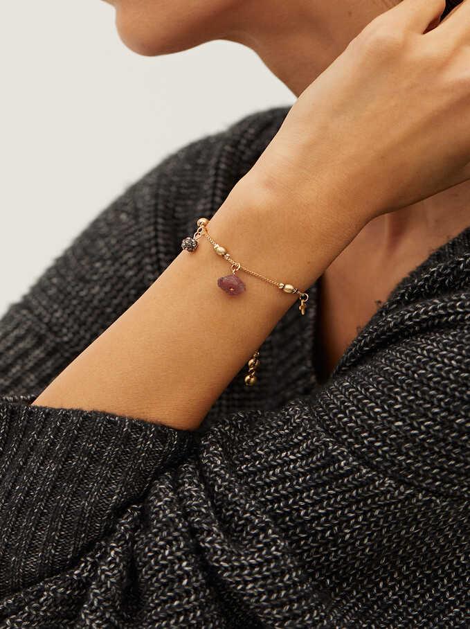 Adjustable Bracelet With Stones, Multicolor, hi-res