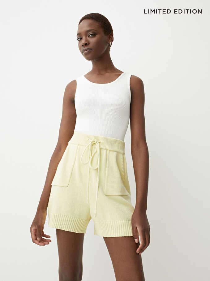 Limited Edition Knit Shorts, Yellow, hi-res