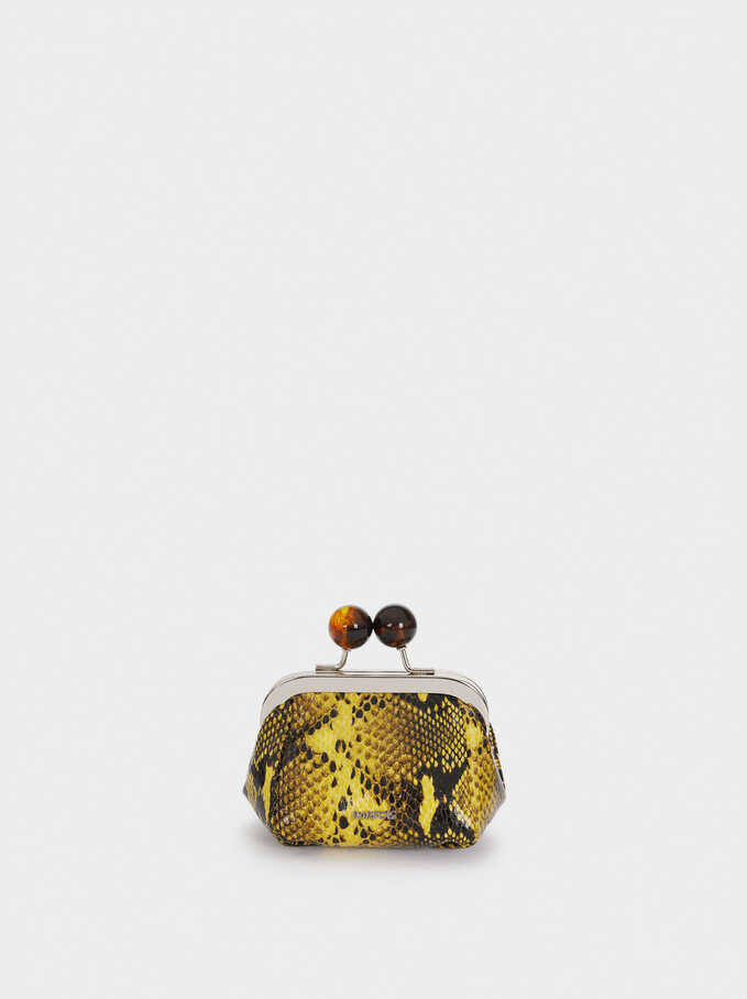 Animal Print Purse, Yellow, hi-res