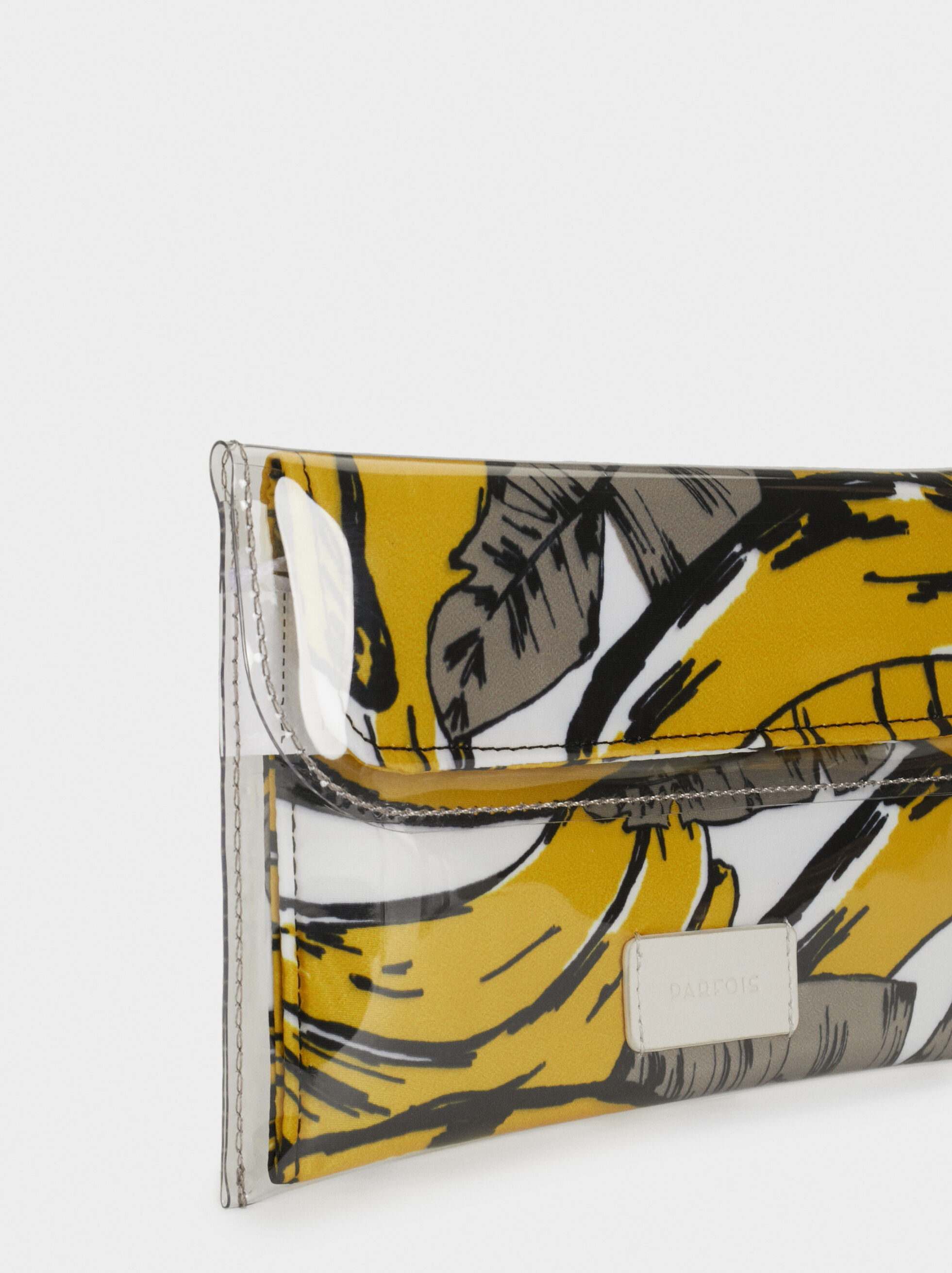 Printed Multipurpose Purse, Yellow, hi-res