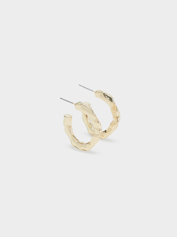 Hoop Fever Small Hoop Earrings, Golden, hi-res