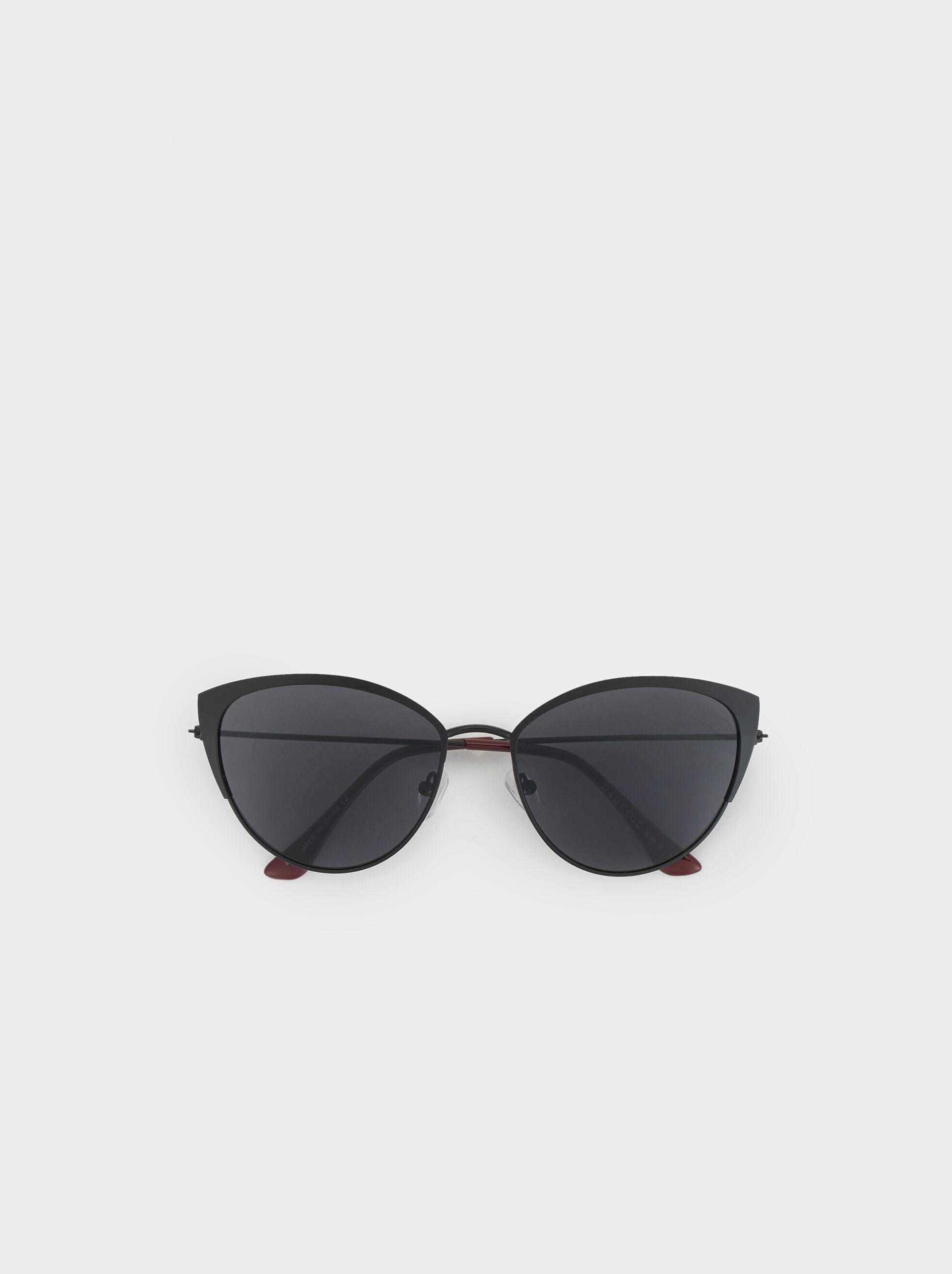 Metal Sunglasses, Black, hi-res