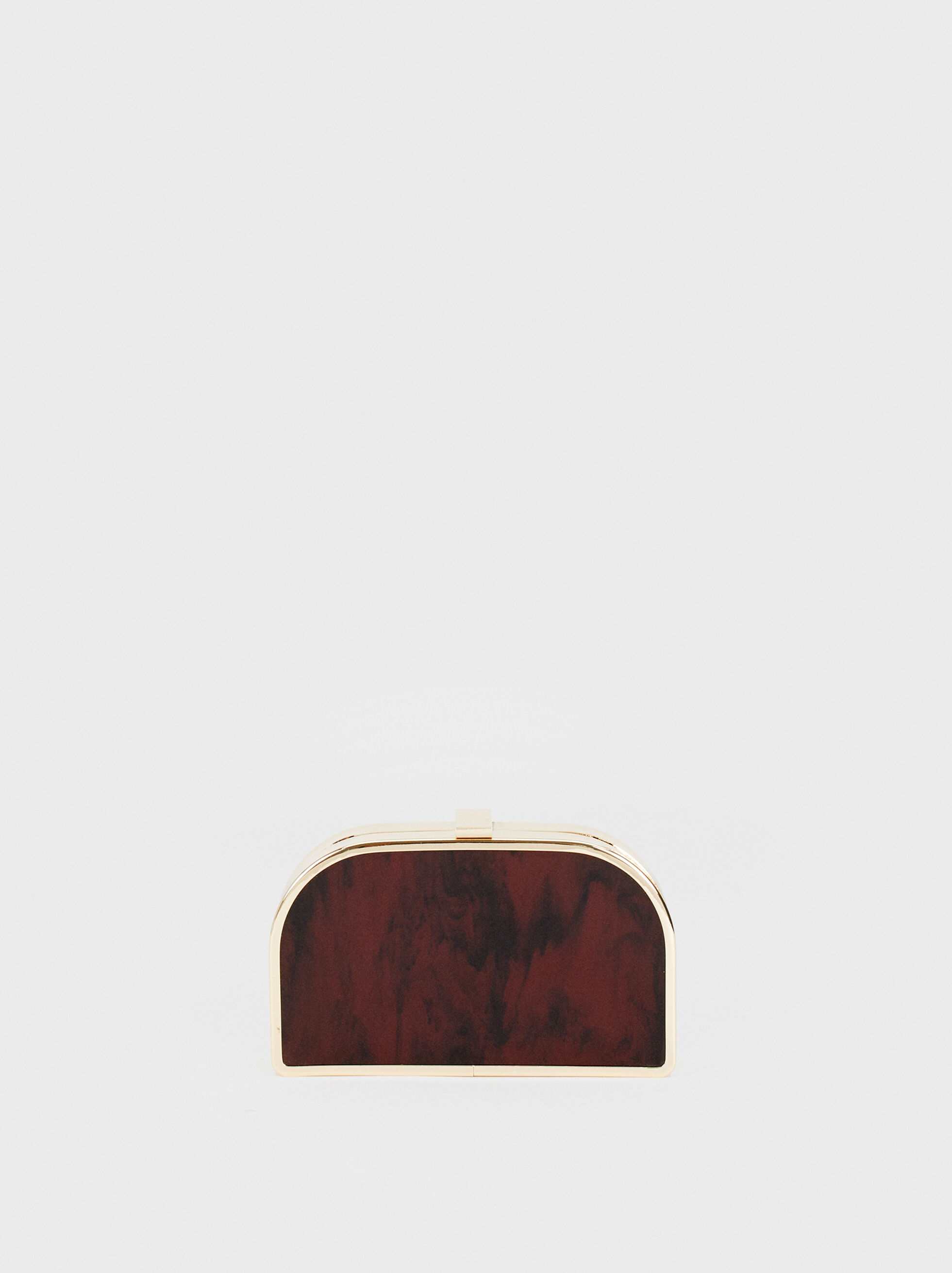 Acrylic Clutch, Bordeaux, hi-res