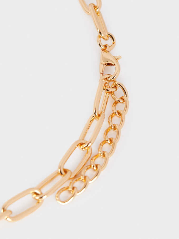 Collar Cadena Largo Perla Dorado, Dorado, hi-res
