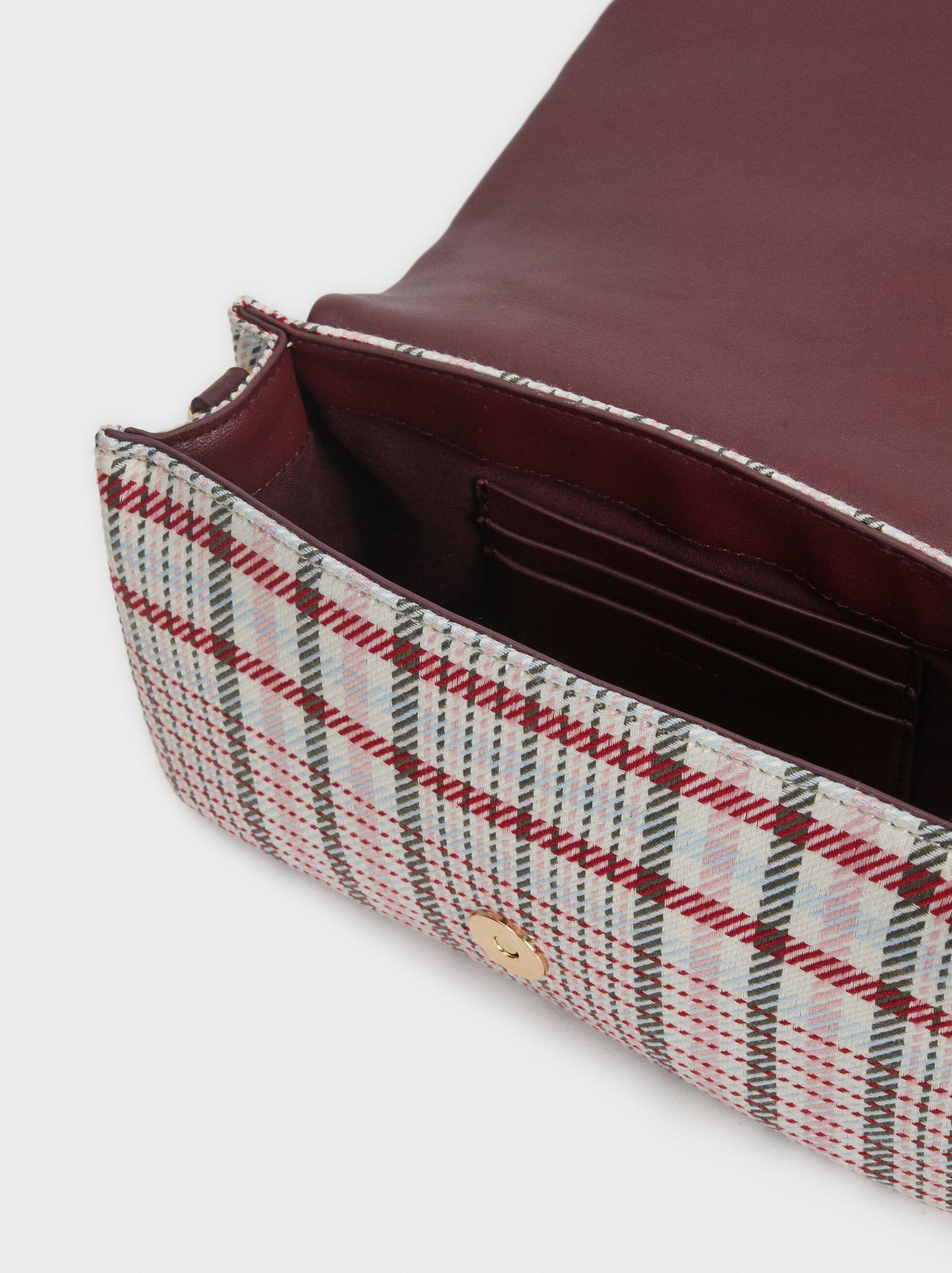 Chequerboard Crossbody Bag, Bordeaux, hi-res