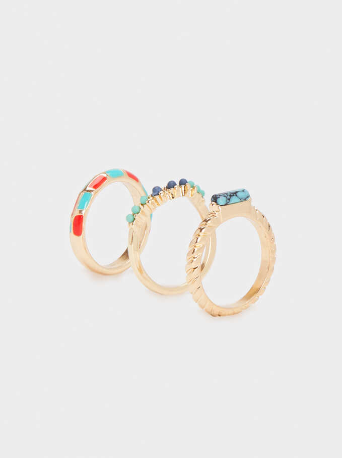 Recife Ring Set, Multicolor, hi-res