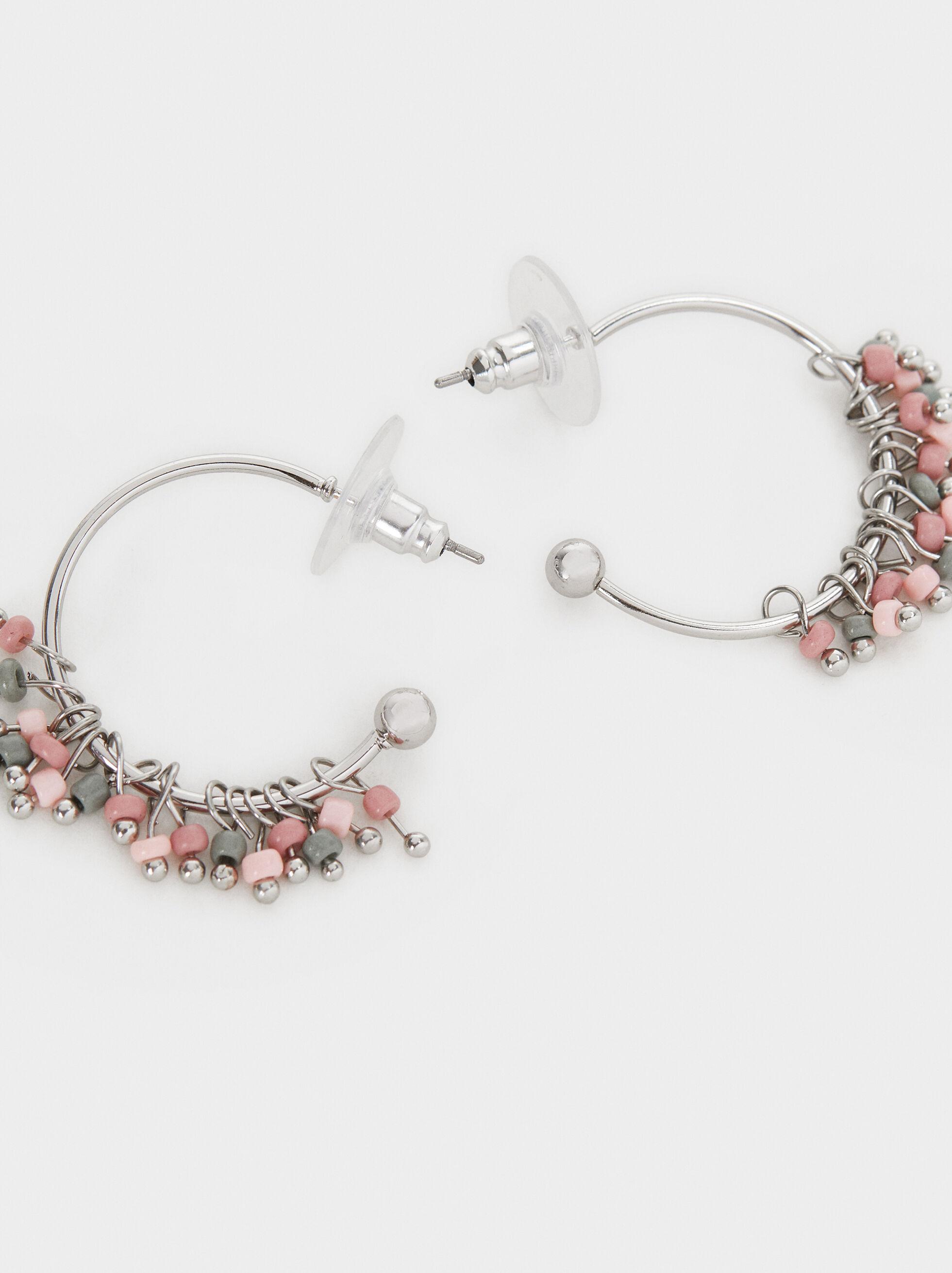 Cosmic Pink Small Hoop Earrings, Multicolor, hi-res