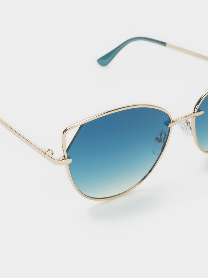 Metal Sunglasses, Multicolor, hi-res