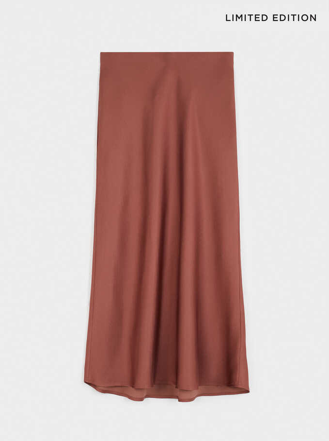 Limited Edition Long Skirt, Brick Red, hi-res