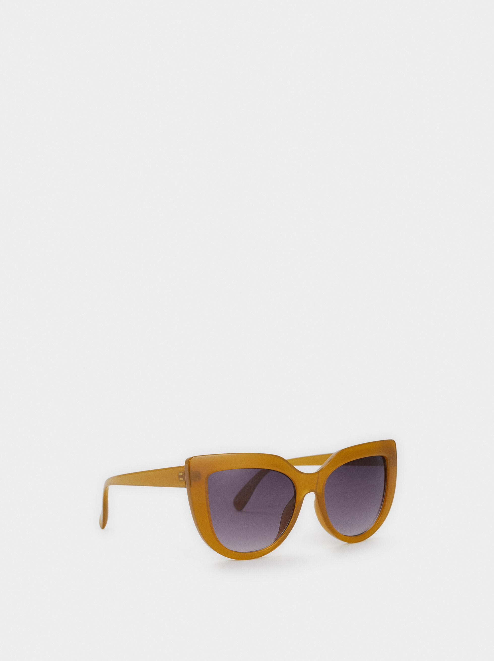 Resin Cat-Eye Sunglasses, Yellow, hi-res