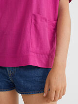 Basic Round-Neck T-Shirt, Pink, hi-res