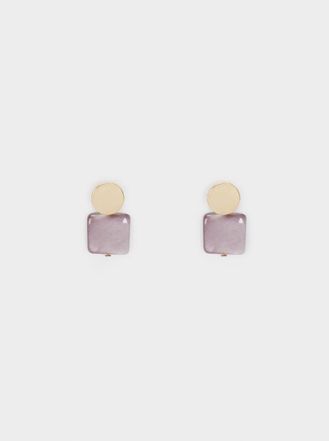 Watercolor Small Earrings, Violet, hi-res