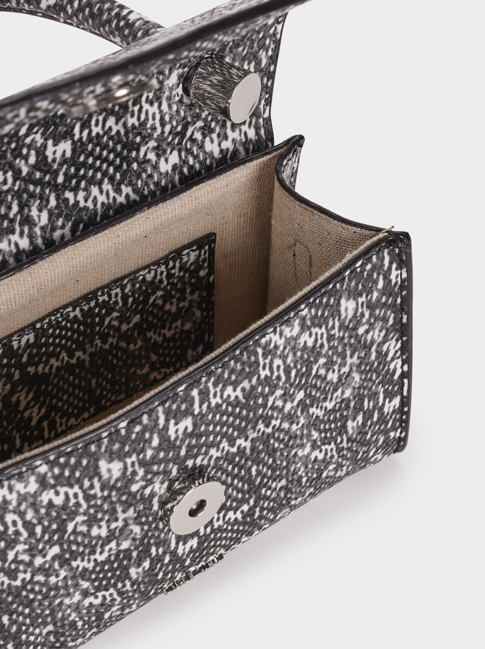 Embossed Mini Party Clutch, Black, hi-res
