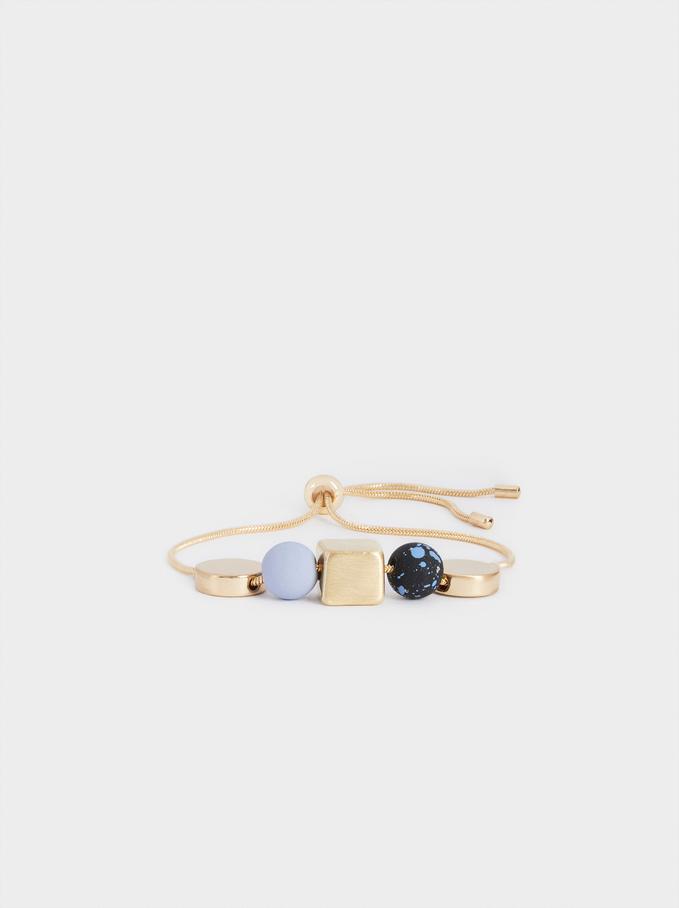 Bracelet Réglable En Perles Fantaisie, Multicolore, hi-res