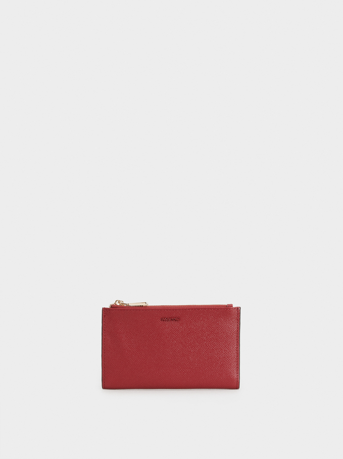 Zipped Purse, Red, hi-res