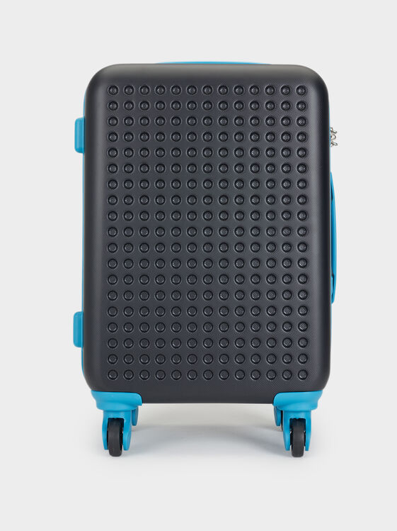 Two-Tone Trolley Suitcase, , hi-res