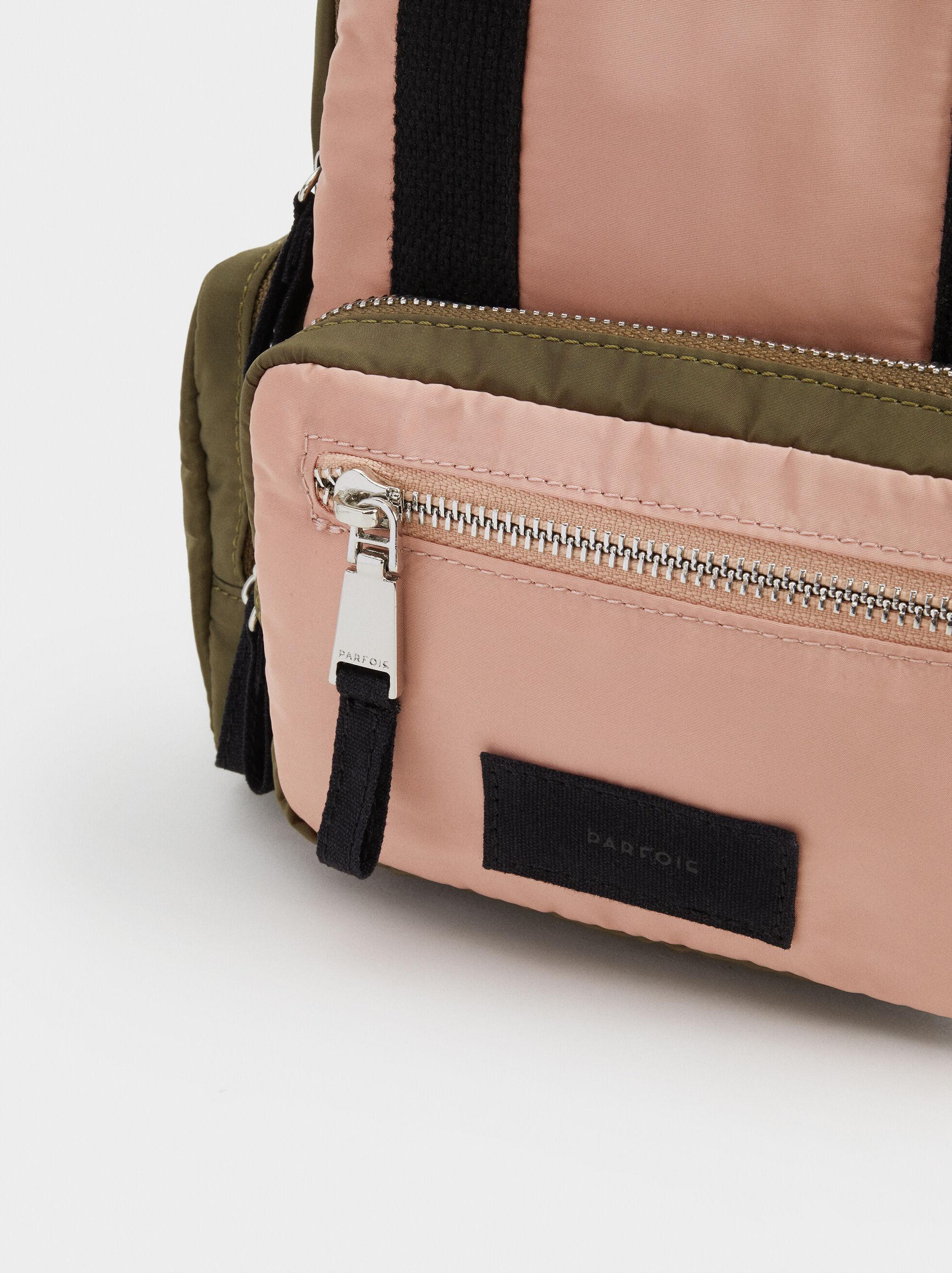 Nylon Backpack, Khaki, hi-res