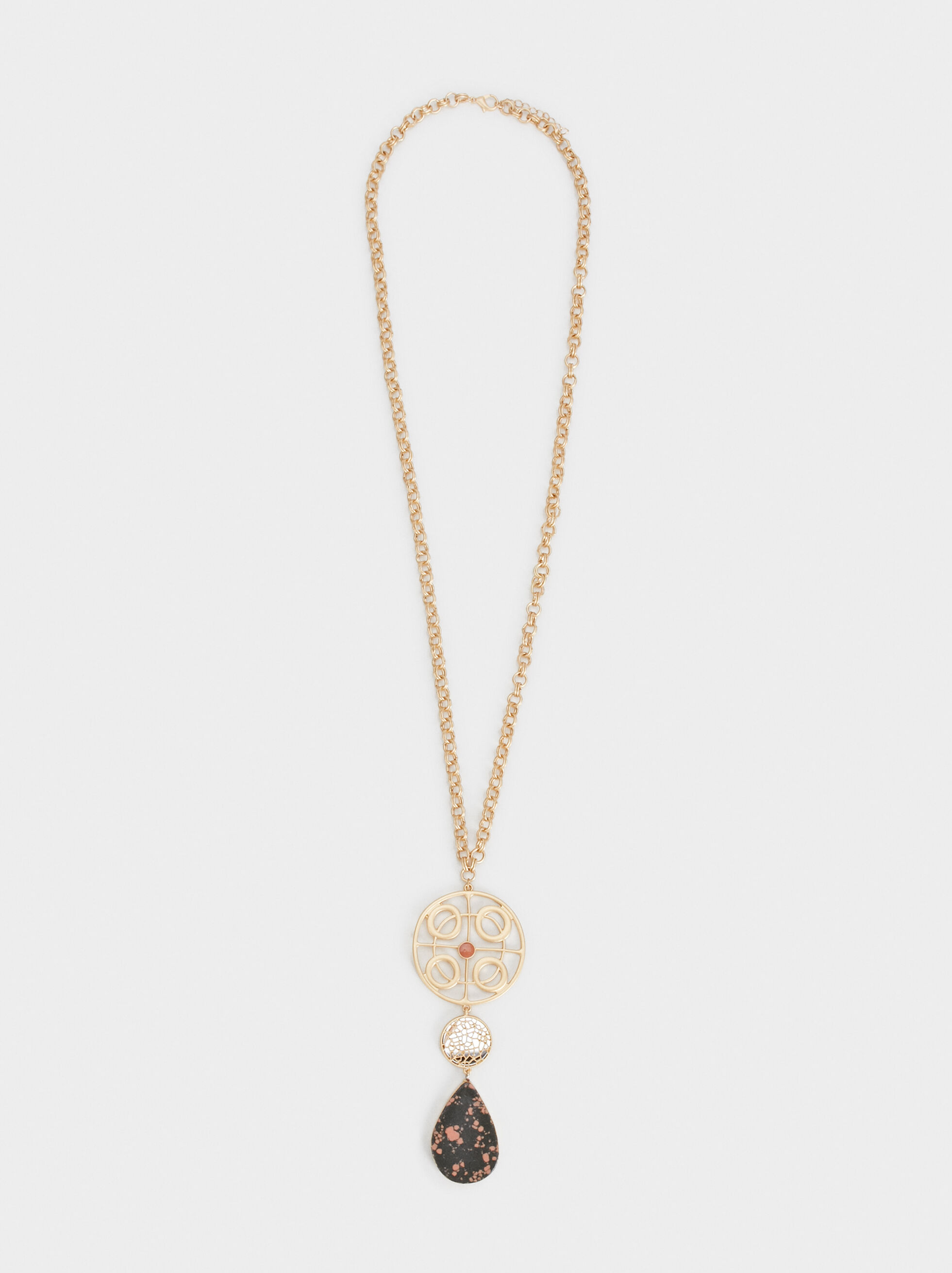 Long Twilight Flower Necklace Online Exclusive, Multicolor, hi-res