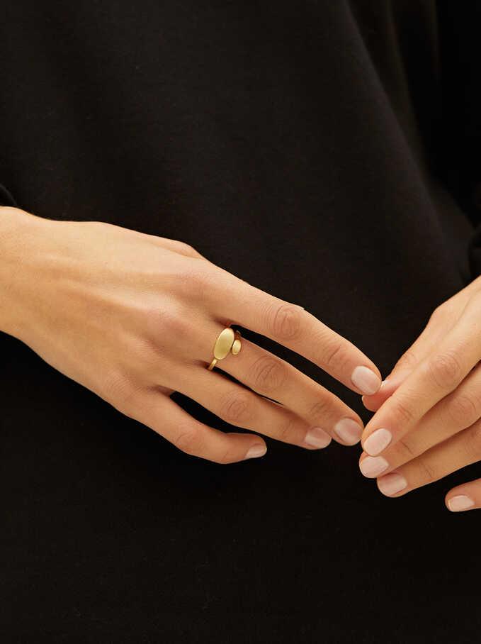 Gold Spiral Ring, Golden, hi-res