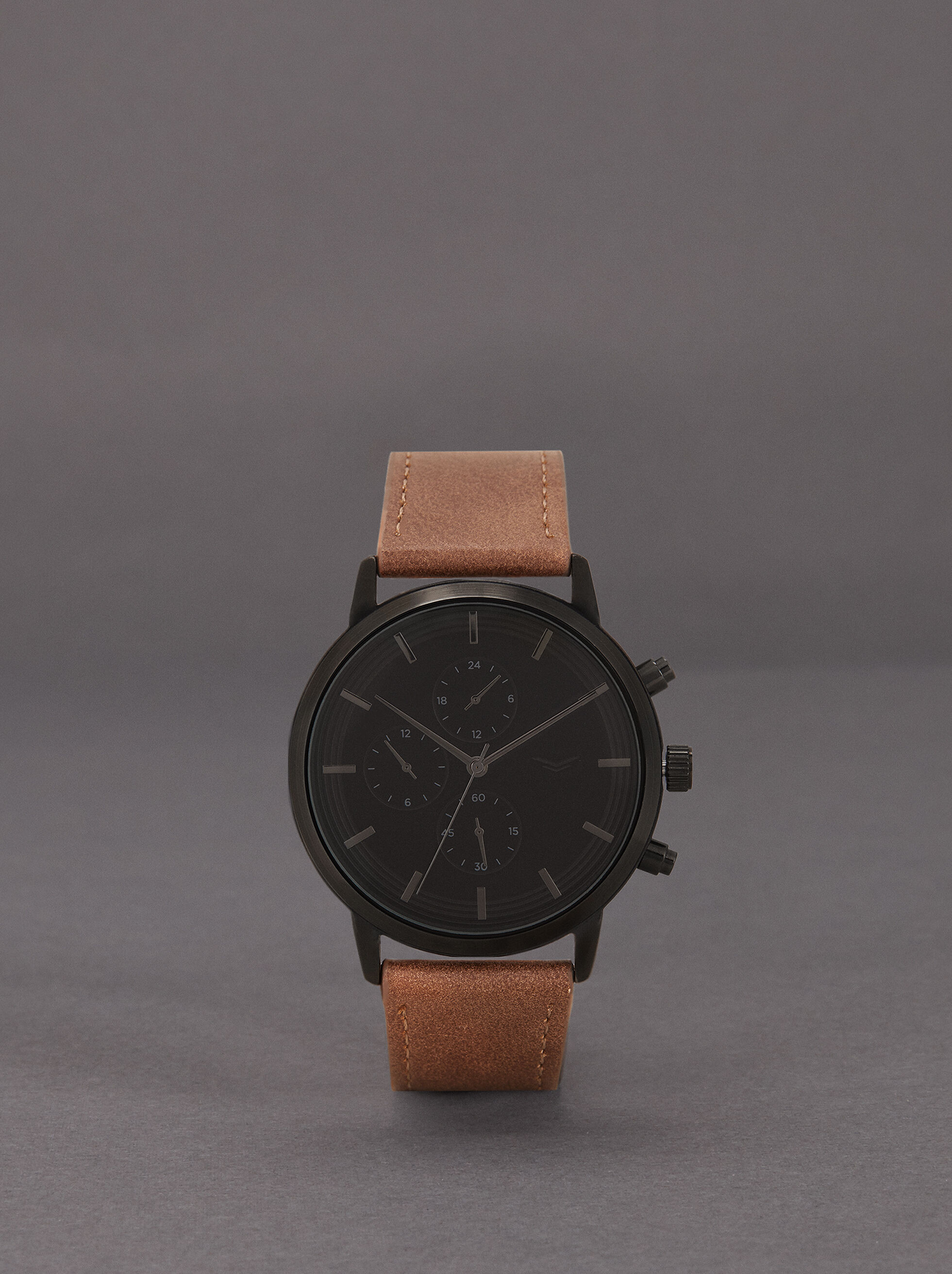 Watch With Interchangeable Straps, Black, hi-res