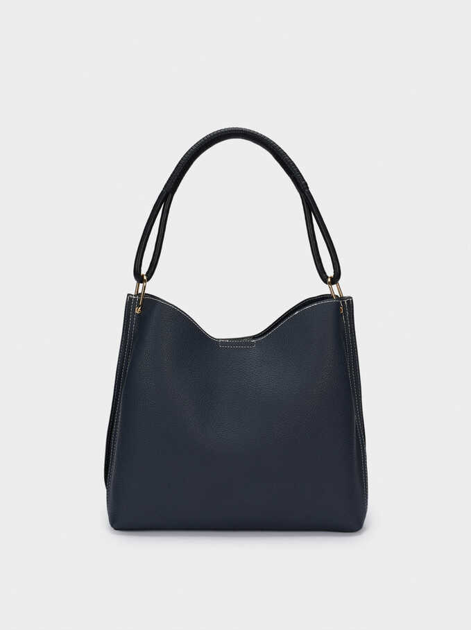 Shoulder Bag With Removable Interior, Navy, hi-res