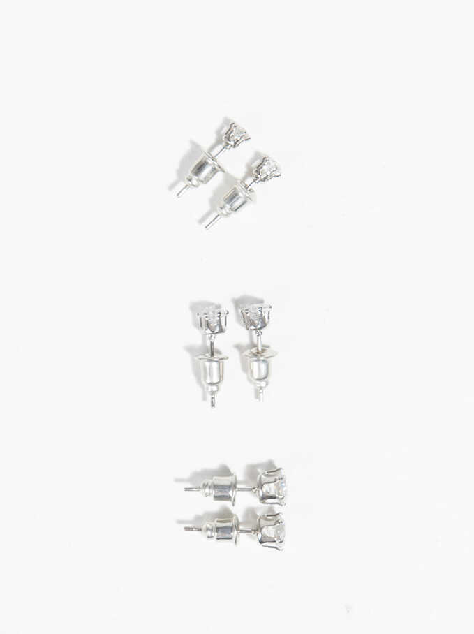 Basic Earrings, Silver, hi-res