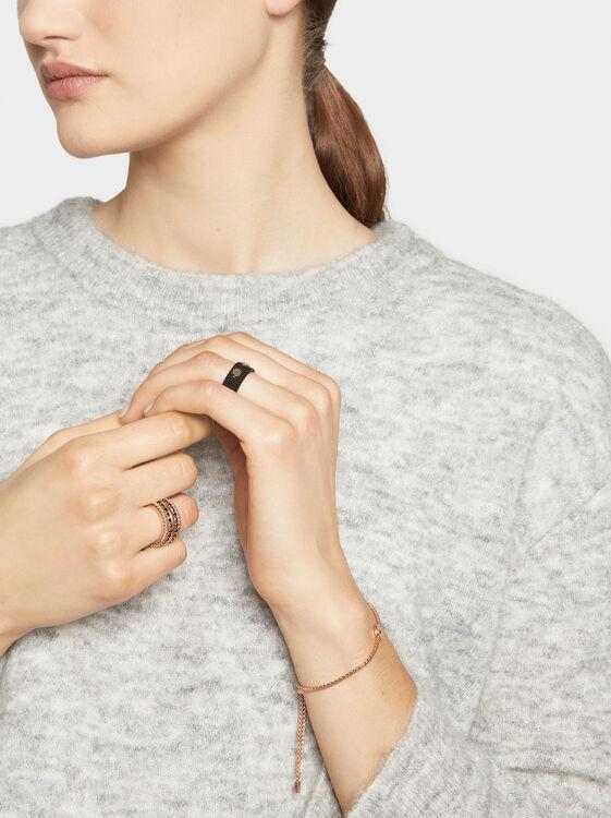 Two-Tone Steel Ring, Orange, hi-res