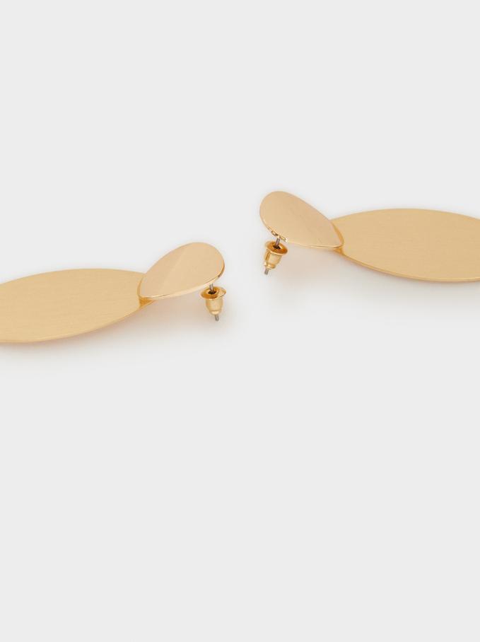 Basic Long Earrings, Golden, hi-res