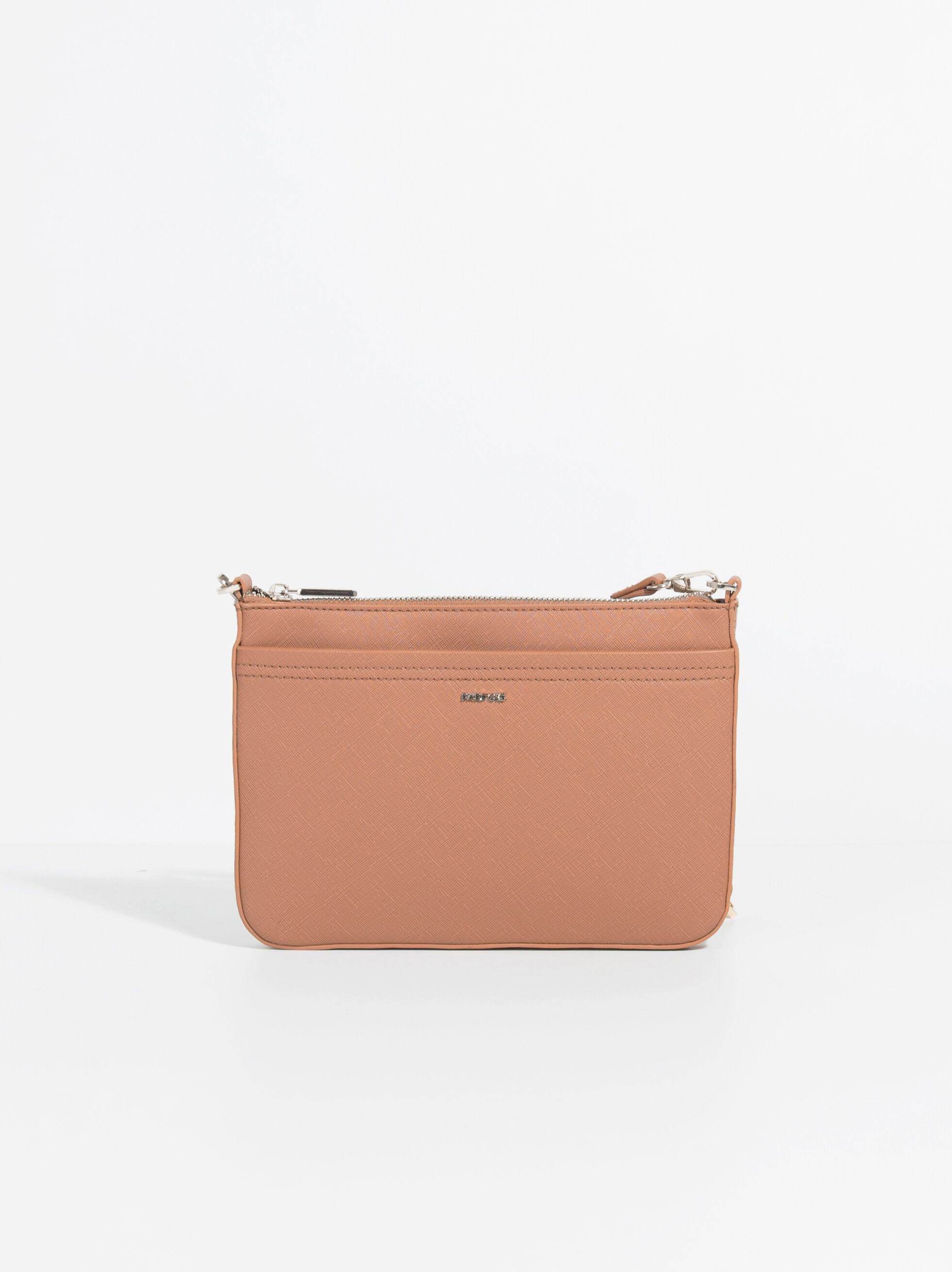 Plain Crossbody Bag, Camel, hi-res