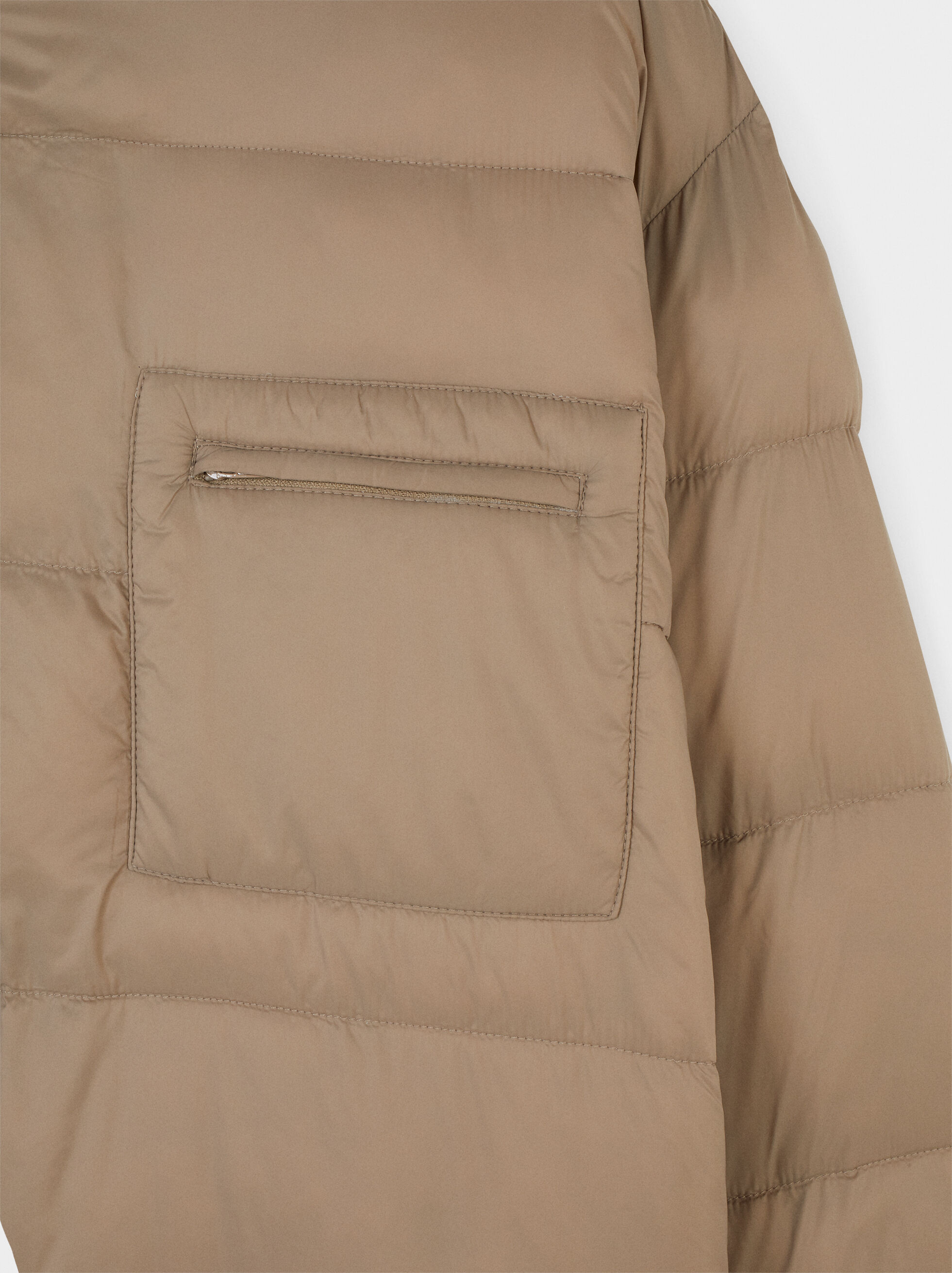 Button-Up Puffer Coat, Beige, hi-res