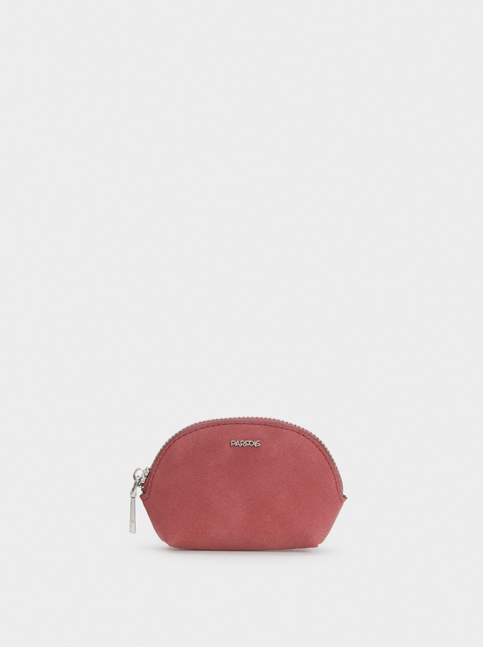 Small Suede Texture Purse, Red, hi-res