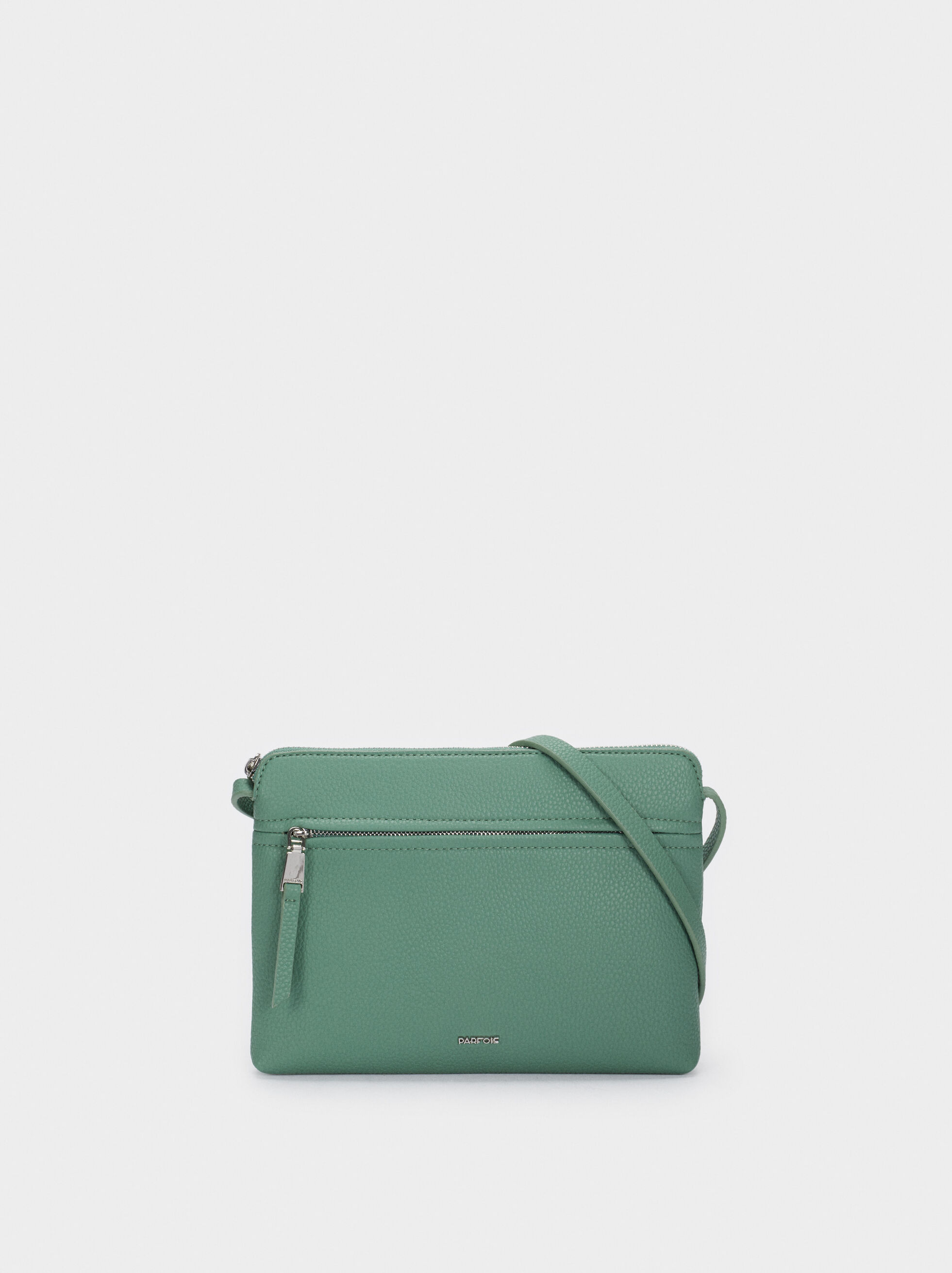 Crossbody Bag With Outer Pocket, Green, hi-res
