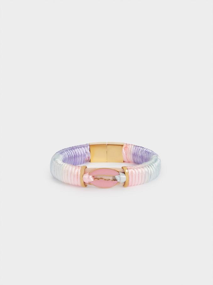 Tie-Dye Stainless Steel Bracelet, Multicolor, hi-res