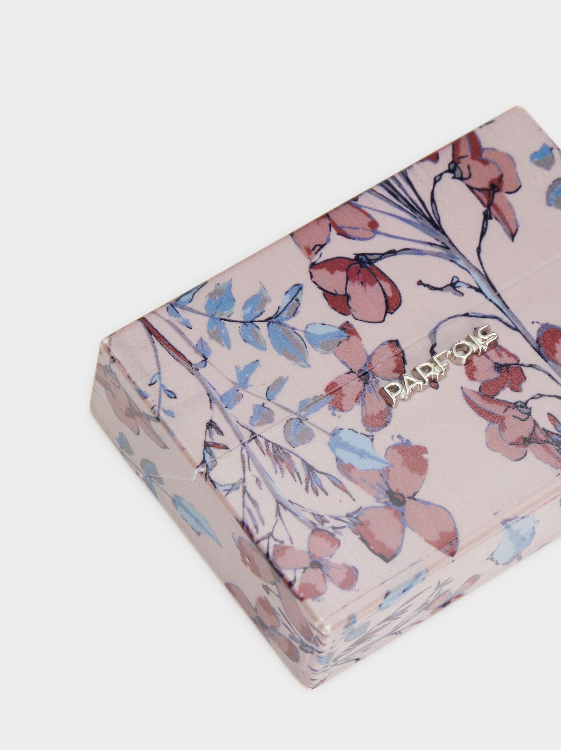 Electronic Floral Print Cigarette Box, Multicolor, hi-res