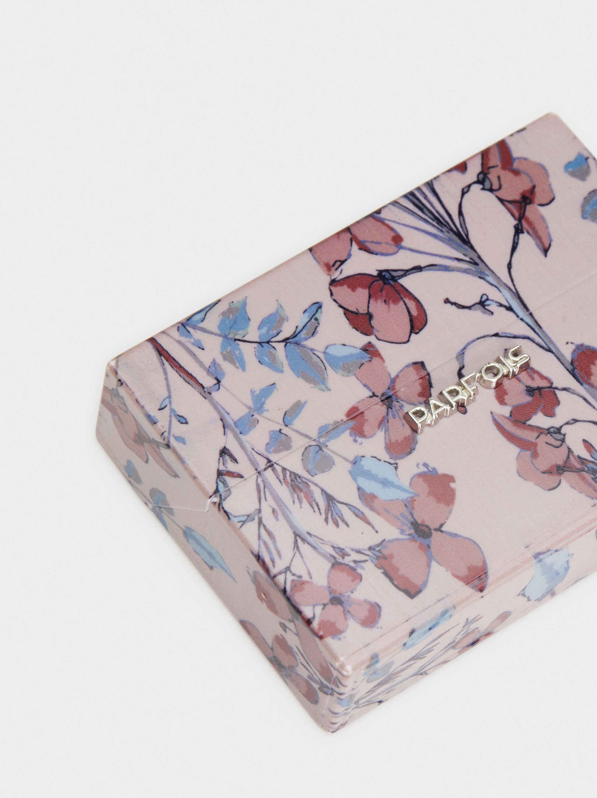 Electronic Floral Print Cigarette Box, Multicolor, hi-res