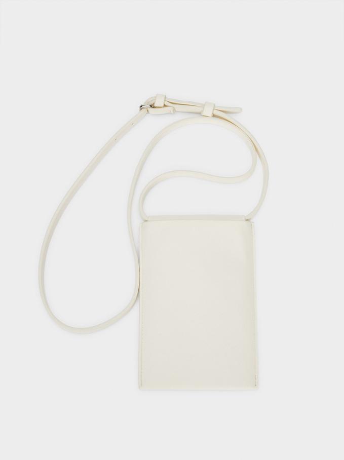 Phone Case With Shoulder Strap, White, hi-res