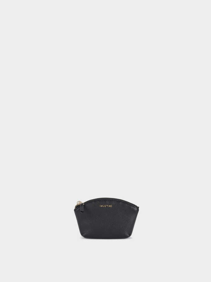 Basic Coin Purse, Black, hi-res